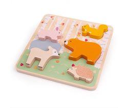 Drevené puzzle Bigjigs Baby Woodland