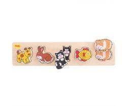 Drevené vkladacie puzzle Bigjigs Baby Domáce zvieratá