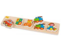 Drevené vkladacie puzzle Bigjigs Baby Hračky