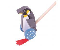 Drevený Ježdík Bigjigs Baby Tučniak