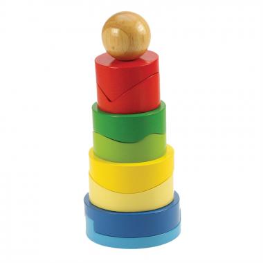 Nasadzovacie veža s tvarmi Bigjigs Baby