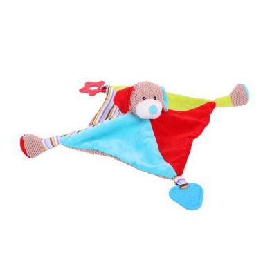 Textilná hračka Bigjigs Baby Psík Bruno s hryzátkami
