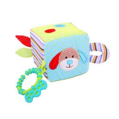Textilné motorická kocka Bigjigs Baby Psík Bruno