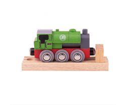 Drevená lokomotíva Bigjigs Rail GWR Green