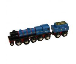 Drevená replika lokomotívy + 3 koľaje Bigjigs Rail LMR Gordon