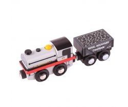Drevená replika lokomotívy + 2 koľaje Bigjigs Rail Peckett