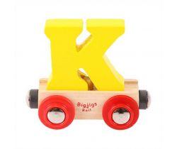 Drevené vláčikodráhy Bigjigs Rail vagónik Písmeno K