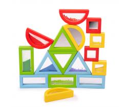 Farebné tvary senzorické Bigjigs Toys Dúhové