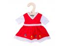 Kvetinové šaty pre bábiku 28 cm Bigjigs Toys Červené