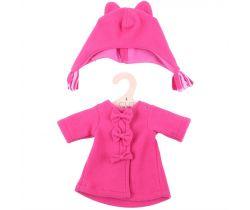 Kabátik s čiapočkou pre bábiku 38 cm Bigjigs Toys Červený