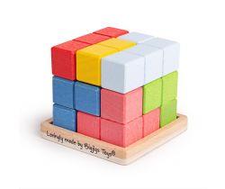 Drevená skladacia kocka Bigjigs Toys