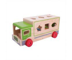 Drevené auto s tvarmi Bigjigs Toys