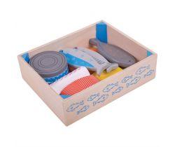 Drevené morské plody v krabičke Bigjigs Toys