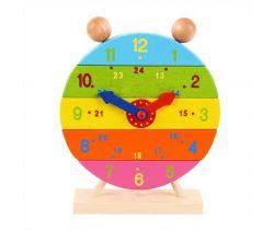 Drevené nasadzovacie hodiny Bigjigs Toys