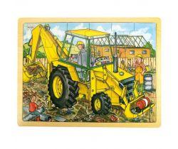 Drevené puzzle Bigjigs Toys Bager 24 dielikov