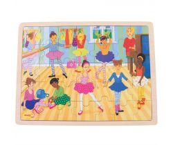 Drevené puzzle Bigjigs Toys Baletky 35 dielikov