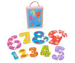 Drevené puzzle Bigjigs Toys Čísla 1-9