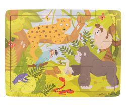 Drevené puzzle Bigjigs Toys Jungle
