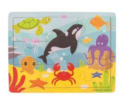 Drevené puzzle Bigjigs Toys Morský svet