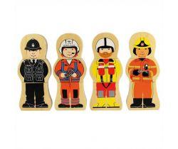 Drevené puzzle Bigjigs Toys Profesia