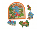 Drevené viacvrstvové puzzle Bigjigs Toys Dinosaury