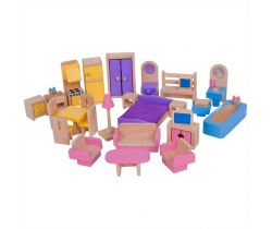 Drevený nábytok do domčeka pre bábiky Bigjigs Toys