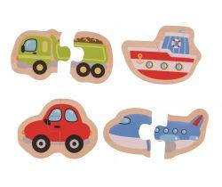 Easy puzzle Bigjigs Toys Dopravné prostriedky