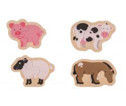 Easy puzzle Bigjigs Toys Zvieratká z farmy