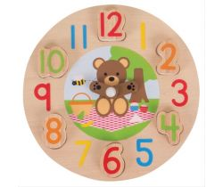 Edukatívne hodiny Bigjigs Toys Medvedík
