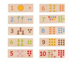 Edukatívne puzzle Bigjigs Toys Počítanie