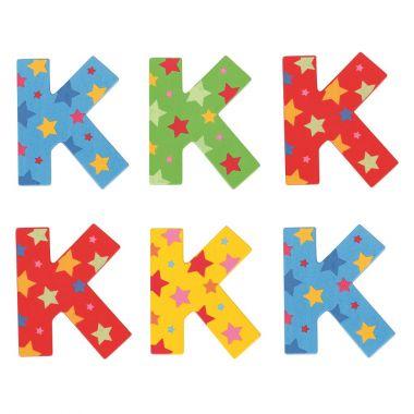 Hviezdičkové písmenko Bigjigs Toys K