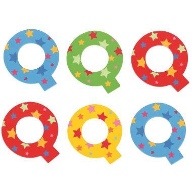 Hviezdičkové písmenko Bigjigs Toys Q