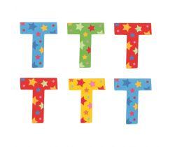 Hviezdičkové písmenko Bigjigs Toys T