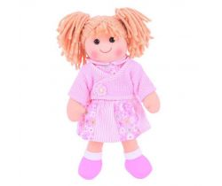 Látková bábika Bigjigs Toys Abigail 34 cm