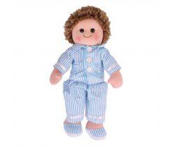 Látková bábika Bigjigs Toys Arthur 34 cm