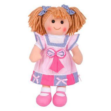 Látková bábika Bigjigs Toys Georgie 38 cm