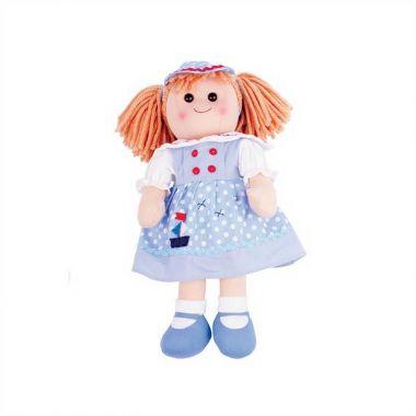 Látková bábika Bigjigs Toys Louise 38 cm
