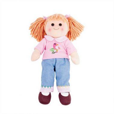 Látková bábika Bigjigs Toys Molly 38 cm