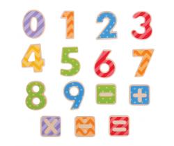 Magnetické farebné číslice Bigjigs Toys