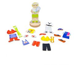 Magnetické oblékací puzzle Bigjigs Toys Športové aktivity