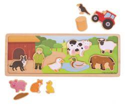 Magnetické puzzle Bigjigs Toys Farma