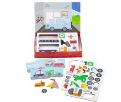 Magnetické puzzle Bigjigs Toys Mechanik