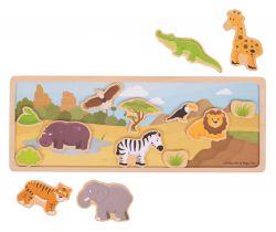 Magnetické puzzle Bigjigs Toys Safari