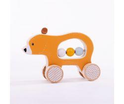 Medvedík na kolieskach Bigjigs Toys