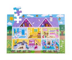 Podlahové puzzle Bigjigs Toys Domček 48 dielikov