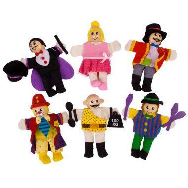 Prsty maňušky Bigjigs Toys Cirkusov zabávači