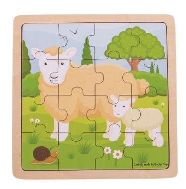 Puzzle Bigjigs Toys Ovečka s jahniatkom