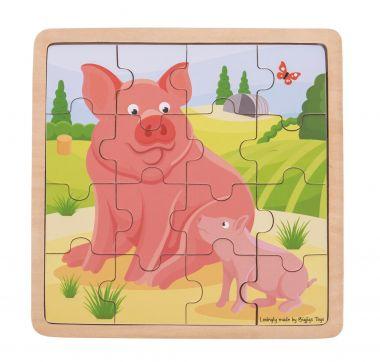 Puzzle Bigjigs Toys Prasiatko sa prasiatko