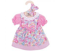 Kvetinové šaty pre bábiku 38 cm Bigjigs Toys Ružové