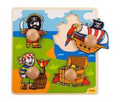 Vkladací puzzle Bigjigs Toys Piráti